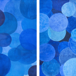 BLUE_2014_Acrylics on canvas_106 x 130 cm [106 x 65 cm each]_Diptych Rs 50,000