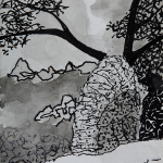 FIVE_2015_Ink on paper_28 x 18cm_Rs 5,000