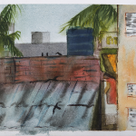 FROM THE ROOF_2015_Watercolour on paper_28 x 39 cm_Rs 6,000
