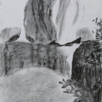 FOUR_2015_Charcoal on paper_25 x 20 cm_Rs 4,000