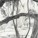 HOT DAY UNDER BANYAN_2007_Ink on paper_29 x 21 cm_Rs 2,000